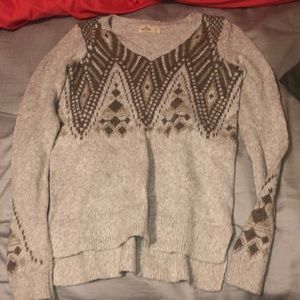 Hollister print sweater